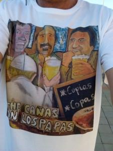 camiseta The cañas puesta
